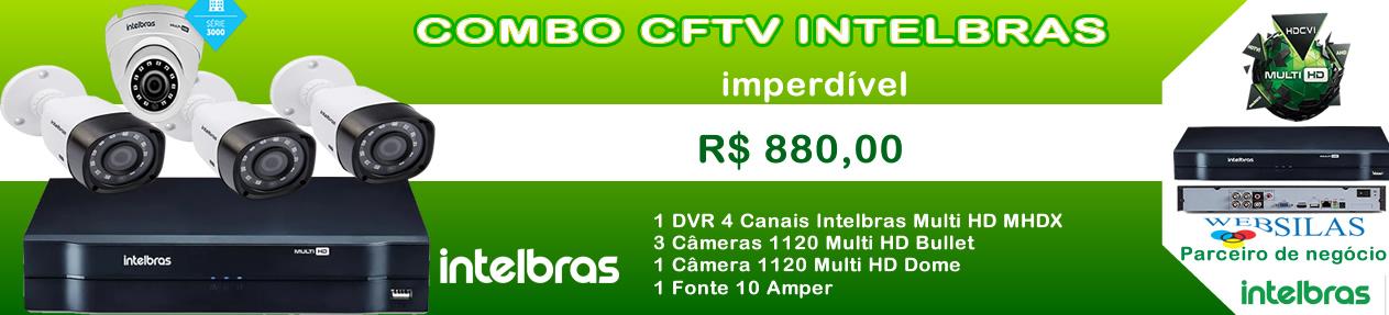 Kit 4 Câmera 1120 + DVR Multi HD Intelbras